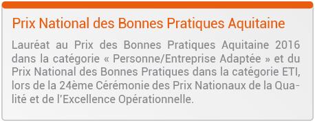 Prix National des bonnes Pratique Aquitaine