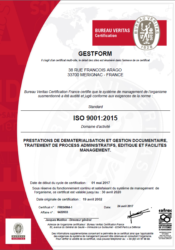 iso-9001 version 2015-qualite-bureau veritas