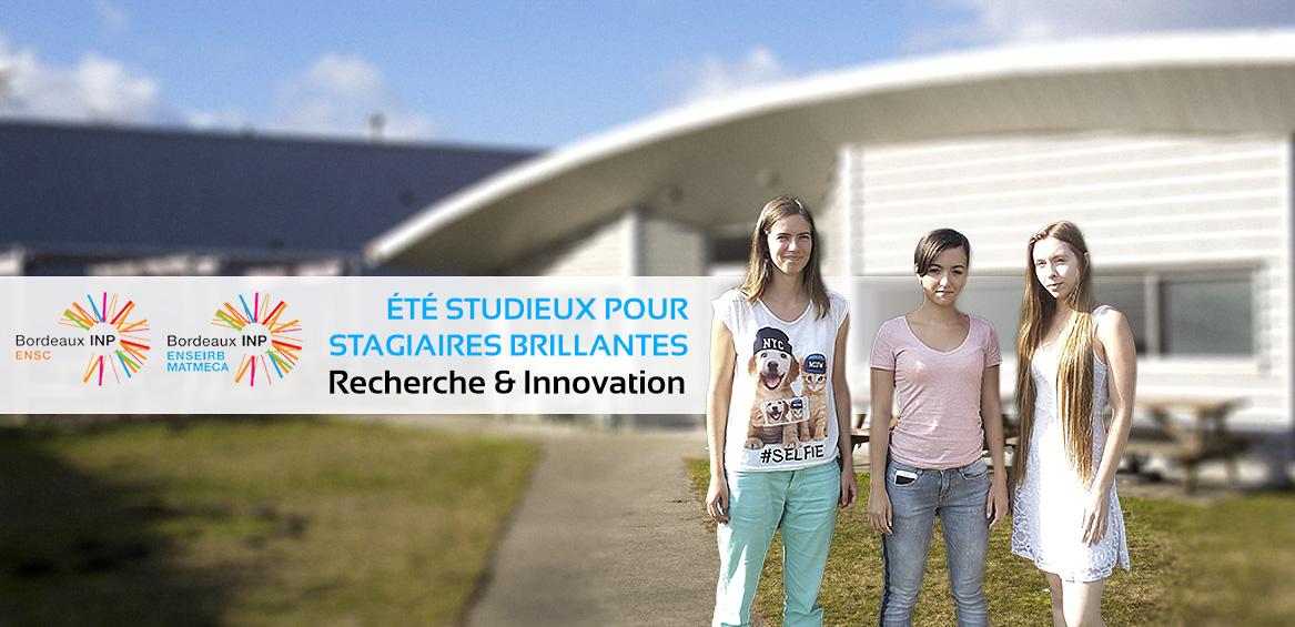 Recherche et innovation : un été studieux et stagiaires brillantes !