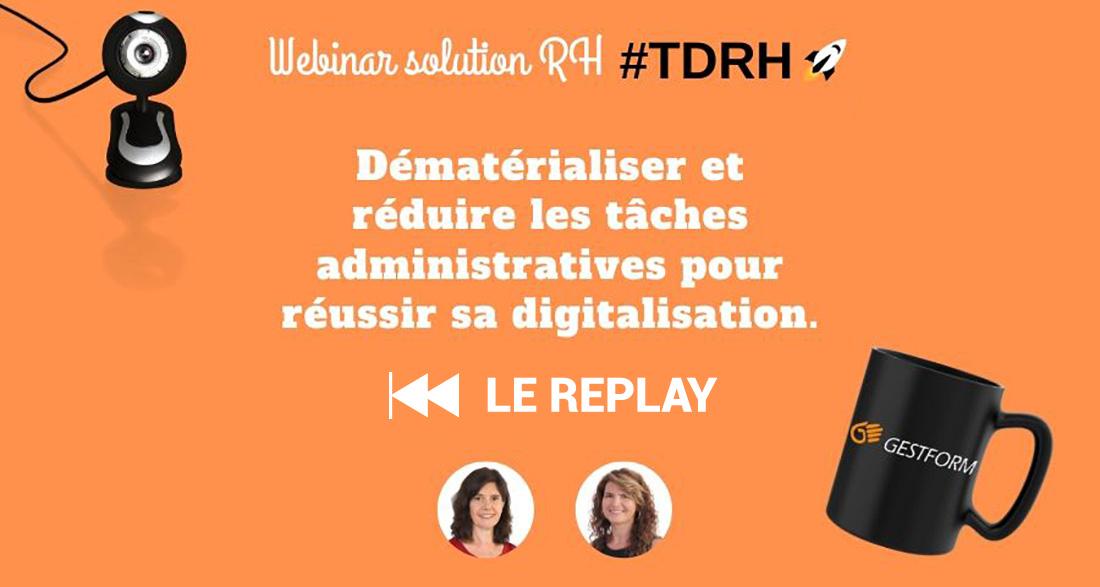 REPLAY : Dématérialiser pour réussir sa digitalisation (Webinar solution RH)