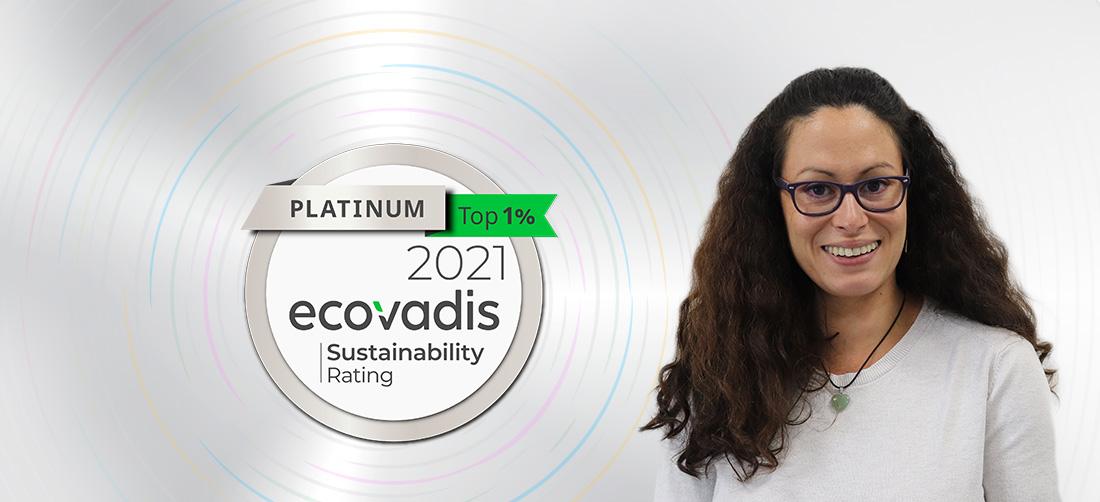 Ecovadis : Platinum - Top 1% des entreprises